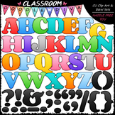 FREEBIE Colorful Alphabet & Punctuation Clip Art