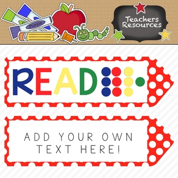 FREE ----->>>>>>  Colorful Bookmarks!