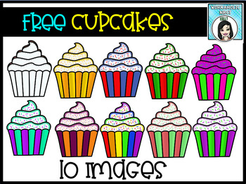 FREEColorful Cupcakes Clipart Clip Art