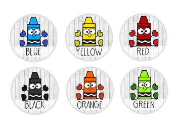 FREEBIE*- Colorful Farmhouse Art Caddy Labels