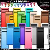 FREEBIE Colorful School Lockers Clip Art & B&W Set