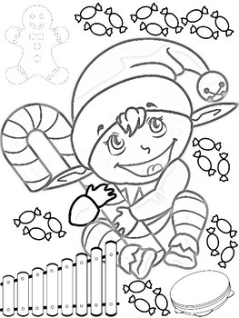 FREEBIE!!! Coloring Page Music Winter Theme