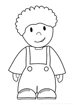 FREEBIE: Coloring pages Boys and Girls - ALL ABOUT ME and MY BODY theme