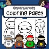 FREEBIE: Coloring pages Superheroes - coloring-in worksheet
