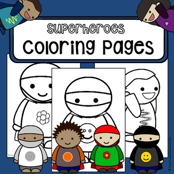 FREEBIE: Coloring pages Superheroes - coloring-in worksheet