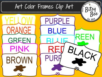 """FREEBIE Colors  """"Art and Painting Clip Art"""""""