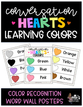 FREEBIE! Colors Word Wall Posters