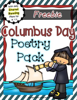 *FREEBIE* Columbus Day Poetry Pack ~ w/ daily Shared Readi
