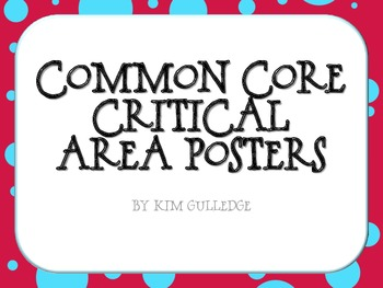 FREEBIE! Common Core Critical Areas Posters - Grades K-6