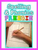 FREEBIE: Common Core Foundational Skills Word Work: Phonics & Spelling Homework
