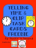 FREEBIE Common Core Time to the Hour Task Cards