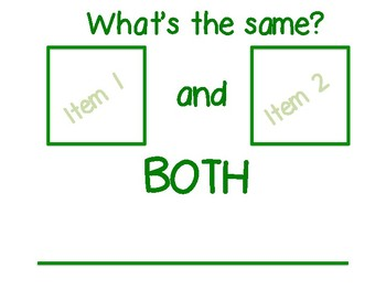 FREEBIE: Compare and Contrast Visual Organizer