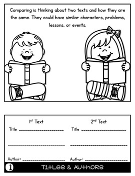 FREEBIE Comparing Texts Flip Book Foldable