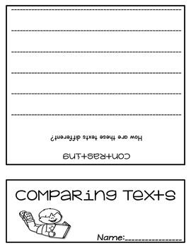 FREEBIE Comparing Texts Flip Book Foldable
