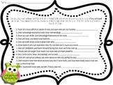 Compound Sentences Worksheet Quiz Test *Freebie*