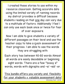 FREEBIE! Comprehension/ Fluency Passages- Beginning Readers + Running Records