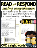 FREE PREVIEW Comprehension/ Fluency Passages + Running Records- Beginners