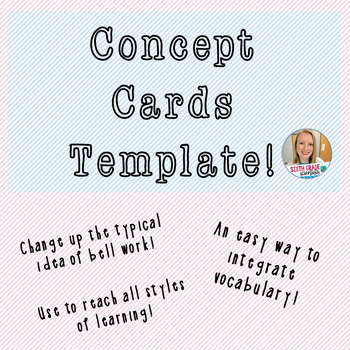 FREEBIE--Concept Cards (A New Way for Bellwork) Template!