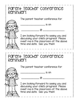 *FREEBIE* Conferences Reminders