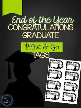 FREEBIE Congratulations Graduate Tags