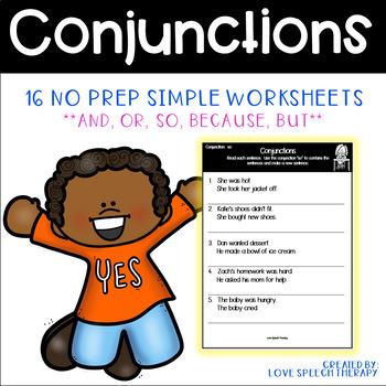 FREEBIE Conjunction Worksheet
