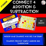FREEBIE!!  Connect Four Addition and Subtraction Fact Practice