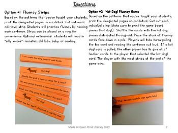 FREEBIE Consonant-Le Fluency Strips