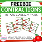 FREEBIE - Contraction Task Cards!