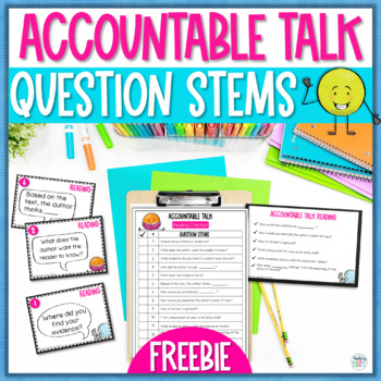 Accountable Talk Partner Card Freebie