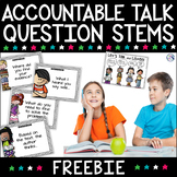 Accountable Talk Partner Card Freebie