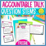 Accountable Talk Cards Freebie