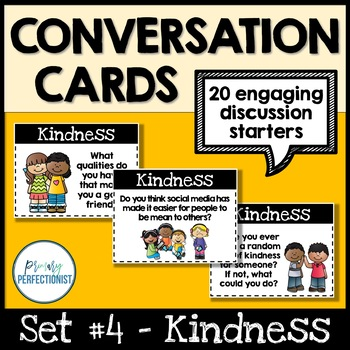 Convo Cards Set #4 - Kindness  ::Topics for Discussions & Oral Language Skills::