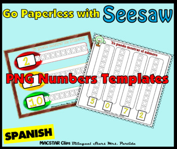 FREEBIE Counting Towers Sample 1-10  PNG  Templates for Seesaw in Spanish