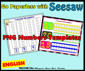 FREEBIE Counting Towers Sample 1-20  PNG  Templates for Seesaw in English
