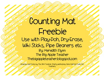 FREEBIE - Counting to 5 Mats for Pre-K and K