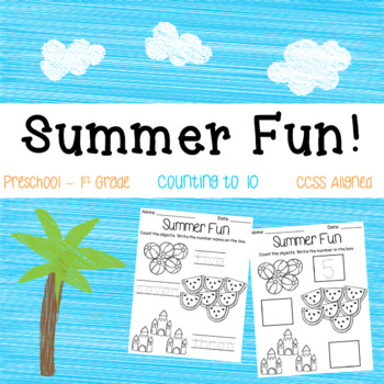 FREEBIE! Counting to Ten (Summer Themed)