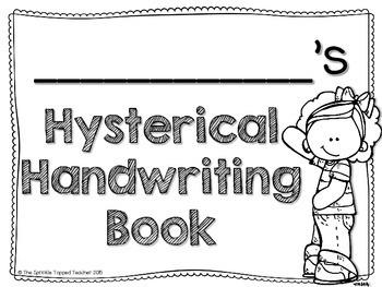 FREEBIE: Cover Page and Sneak Peek Hysterical Handwriting- Guaranteed Giggles