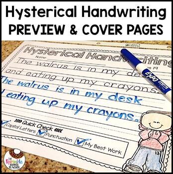 FREEBIE: Cover Page and Sneak Peek Hysterical Handwriting-