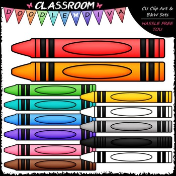 FREEBIE Crayon Page Toppers Clip Art - Crayons Clip Art