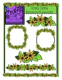 FREEBIE Crazy Daisy Borders/Elements {Creative Clips Digital Clipart}