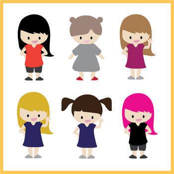 FREEBIE - Creative Kids Clipart Set
