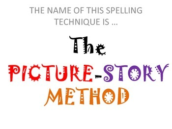 FREEBIE: Creative Spelling Techniques: The Picture-Story Method