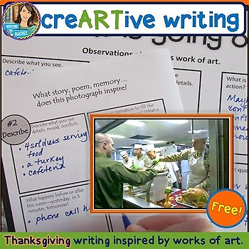 FREEBIE: Creative Writing with Thanksgiving Prompts