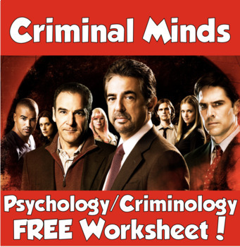 FREEBIE- Criminal Minds Worksheet *Works for Any Episode*