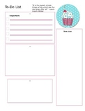 FREEBIE! Cupcake To Do List Teacher Task List