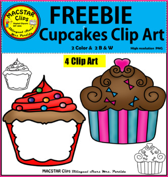 FREEBIE Cupcakes Clip Art  Personal and Commercial Use