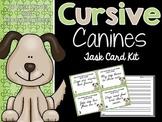 FREEBIE!! Cursive Canines Task Card Kit