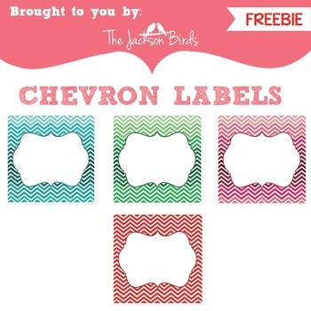 FREEBIE: Custom Chevron Labels