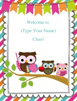 Freebie Customizable Owl Welcome Sign By Inspired Owl S
