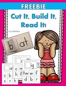 FREEBIE! Cut It, Build It, Read It! (Rhyming Words Activity)